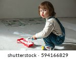 repair in the apartment. a... | Shutterstock . vector #594166829