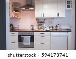 details of a kitchen   at home .... | Shutterstock . vector #594173741