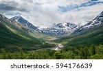 Summer Landscape Of Norwegian...