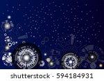 vector illustration electronic... | Shutterstock .eps vector #594184931