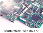 semiconductor chip on... | Shutterstock . vector #594187577