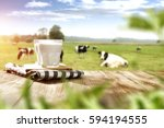 milk and free space  | Shutterstock . vector #594194555