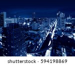 skyscrapers  skyline of bangkok ... | Shutterstock . vector #594198869