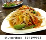 Som Tam Or Spicy Papaya Salad ...