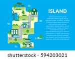 infographic travel and landmark ... | Shutterstock .eps vector #594203021
