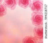 pink flower background | Shutterstock .eps vector #594218717