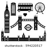 london icon set collection... | Shutterstock .eps vector #594220517