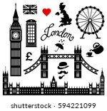 london icon set collection... | Shutterstock .eps vector #594221099