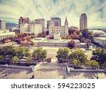color toned picture of salt... | Shutterstock . vector #594223025