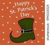 saint patrick's day background... | Shutterstock .eps vector #594223325