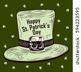saint patrick's day background... | Shutterstock .eps vector #594223595
