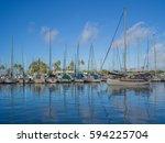 honolulu  hawaii  usa  march 6  ... | Shutterstock . vector #594225704