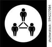 people network icon | Shutterstock .eps vector #594227084