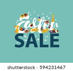 easter sale design   royalty... | Shutterstock . vector #594231467