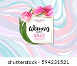 womens day background with... | Shutterstock . vector #594231521