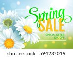 springr sale concept. summer... | Shutterstock . vector #594232019
