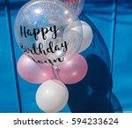 bunch of balloons for happy...   Shutterstock . vector #594233624