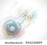digital technology world.... | Shutterstock .eps vector #594234899