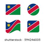 set 4 flags of namibia | Shutterstock .eps vector #594246035