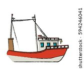 fishing boat icon | Shutterstock .eps vector #594246041