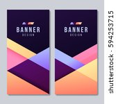 set of banner templates. bright ... | Shutterstock .eps vector #594253715