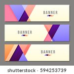 set of banner templates. bright ... | Shutterstock .eps vector #594253739