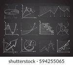 hand drawn finance business...   Shutterstock .eps vector #594255065