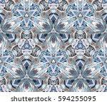 kaleidoscope seamless pattern.... | Shutterstock .eps vector #594255095