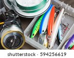 Closeup Of A Fishing Box With...