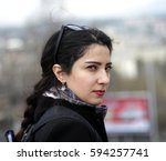 Young Azeri Woman Watching...