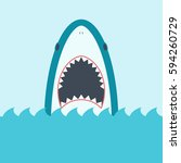 Shark With Open Mouth. Front...