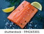 Raw Salmon Lemon Salt And...