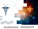2d illustration health care and ... | Shutterstock . vector #594265379