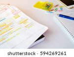tutorial document sheet and... | Shutterstock . vector #594269261