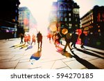 crowd of anonymous people... | Shutterstock . vector #594270185