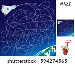 chart the course to earth.... | Shutterstock .eps vector #594274565