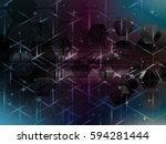 abstract vector background with ... | Shutterstock .eps vector #594281444