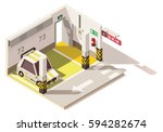 vector isometric low poly... | Shutterstock .eps vector #594282674