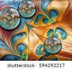 3d rendering combo artwork with ... | Shutterstock . vector #594292217