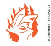 smiling classy red fox in a... | Shutterstock .eps vector #594292775
