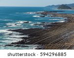 nichinan coastline from phoenix ... | Shutterstock . vector #594296885