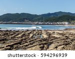 devil's washboard coastline in... | Shutterstock . vector #594296939