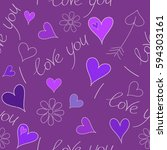 perfect image in violet and... | Shutterstock . vector #594303161