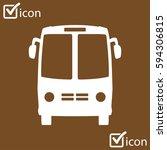 bus icon. schoolbus symbol.... | Shutterstock .eps vector #594306815