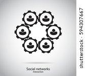 social networking interaction | Shutterstock .eps vector #594307667