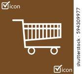 flat icon of shopping chart....