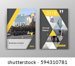 business review brochure cover... | Shutterstock .eps vector #594310781
