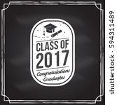 class of 2017 badge on the... | Shutterstock .eps vector #594311489