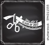 class of 2017 badge on the... | Shutterstock .eps vector #594311555