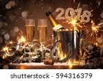 new years eve celebration... | Shutterstock . vector #594316379